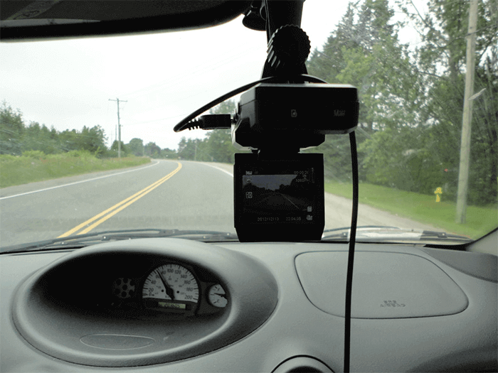 camera on the dashboard