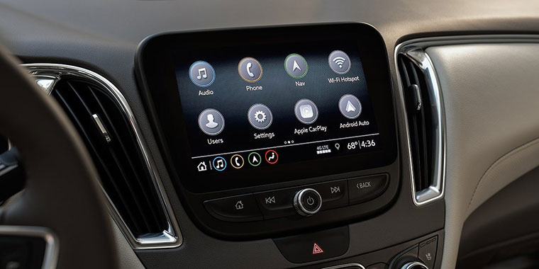 Elegant Chevrolet Malibu Dashboard with new features