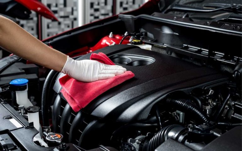 Car Engine Cleaning